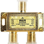 RCA 2 Way Coaxial Cable Splitter
