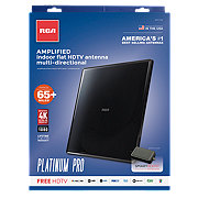 RCA Black Flat Omni-Directional Digital Amplified Indoor TV Antenna