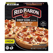 Red Baron Singles Deep Dish Meat-Trio Pizzas