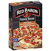 Red Baron Singles French Bread Three Meat Pizzas Value Pack