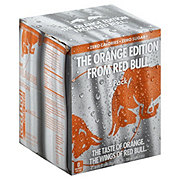 Red Bull Total Zero Orange Edition Energy Drink 4 PK Cans