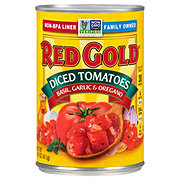 Red Gold Premium Diced Tomatoes with Basil Garlic and Oregano