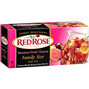 Red Rose Passion Fruit Guava Black Iced Tea Bags
