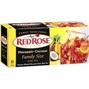 Red Rose Pineapple Coconut Black Iced Tea Bags