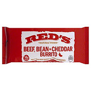 Red's Beef Bean & Cheddar Burrito