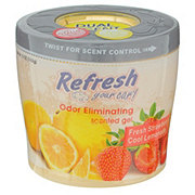 Refresh Your Car Fresh Strawberry/Cool Lemonade Dual Scent Gel Can