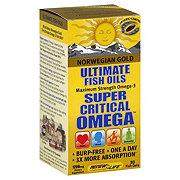 Renew Life Norwegian Gold Ultimate Fish Oils Maximum Strength Super Critical Omega 1200 mg