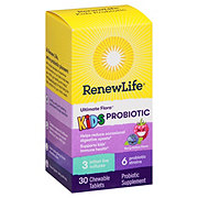 Renew Life Ultimate Flora Kids Probiotics Chewable Tablets Berry-Licious Taste