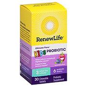Renew Life Ultimate Flora Kids Probiotics Chewable Tablets Berry-Licious Taste