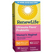 Renew Life Ultimate Flora Vaginal Support Extra Strength Probiotic For Women Vegetable Capsules