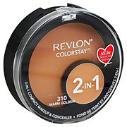 Revlon Colorstay 2-In-1 Compact Makeup & Concealer, Warm Golden