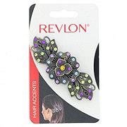 Revlon Metal Multi Color Barrette With Flowers
