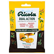 Ricola Dual Action Cough Suppressant/ Oral Anesthetic Honey Lemon Throat Drops