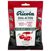 Ricola Dual Action Dual Action Cough Suppressant/ Oral Anesthetic Cherry Cough Drops