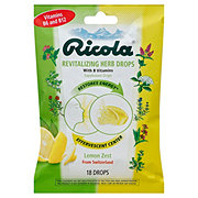 Ricola Revitalizing Herb Drops Lemon Zest