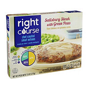 Right Course Salisbury Steak With Green Peas