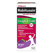 Robitussin Children's CF Cough & Cold Non-Drowsy For Ages 4 & Over, Grape Flavor