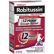 Robitussin Children's Extended-Release 12 Hour Cough Relief Grape Flavored Liquid