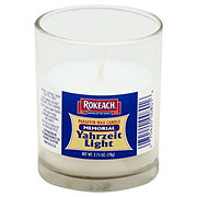 Rokeach Memorial Paraffin Wax Candle