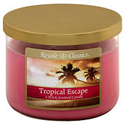 Royale Classics Tropical Escape Scented 3 Wick Candle with Metal Lid