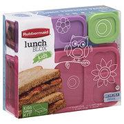 Rubbermaid Lunch Blox Kids Flat, Pink