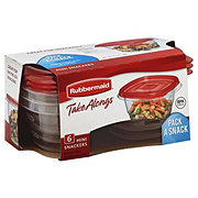 Rubbermaid TakeAlongs .5 Cup Mini Snacking Food Storage Containers