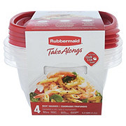 Rubbermaid TakeAlongs Deep Square 5.2 Cup Food Storage Containers