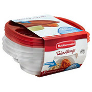 Rubbermaid TakeAlongs Divided Snacking Food Storage Containers