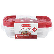 Rubbermaid TakeAlongs Rectangle 4 Cup Food Storage Containers