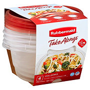Rubbermaid TakeAlongs Rounds 3.2 Cup Food Storage Containers
