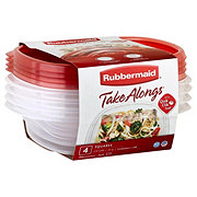 Rubbermaid TakeAlongs Squares 2.9 Cup Square Food Storage Containers