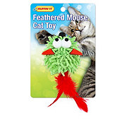 Ruffin' It Feathered Mouse Cat Toy, Colors Vary