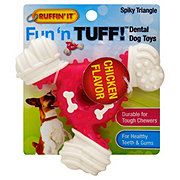 Ruffin' It Fun N Tuff Dental Chew Spiky Triangle Dog Toy