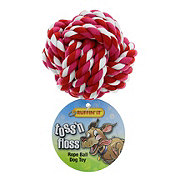 Ruffin' It Toss 'n Floss Rope Ball Dog Toy, Colors May Vary