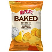 Ruffles Oven Baked Cheddar & Sour Cream Flavored Potato Crisps
