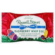Russell Stover Raspberry Whip Egg Covered In Dark Chocolate