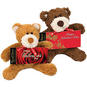 Russell Stover Solid Milk Chocolate Valentine Bar with Bear