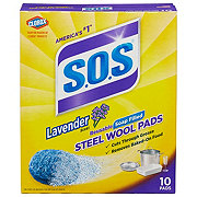 S.O.S Lavender Sent Steel Wool Soap Pads