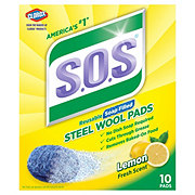 S.O.S Lemon Fresh Scent Steel Wool Soap Pads