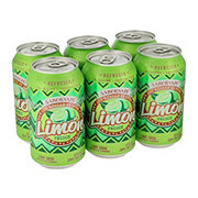 Saborsazo Pure Cane Sugar Lime Soda 12 oz Cans