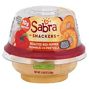 Sabra Hummus with Pretzels Roasted Red Pepper