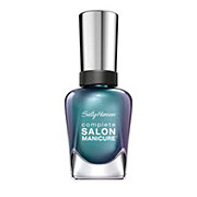 Sally Hansen Complete Salon Manicure Nail Enamel Black and Blue