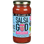 Salsa God Hot & Spicy Fire Roasted Red Restaurant Style Salsa