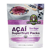 Sambazon Unsweetened Pure Acai Berry Smoothie Packs