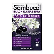 Sambucol Black Elderberry Cold & Flu Symptom Relief Quick Dissolve Tablets