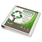 Samsill Earth's Choice Biobased Durable Round Ring View Binder, White