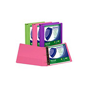 Samsill Heavy Duty D-Ring Antimicrobial Binder, Assorted Colors