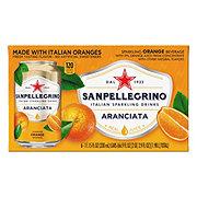 San Pellegrino Orange Sparkling Beverage 11.15 oz Cans