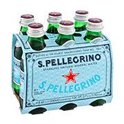 San Pellegrino Sparkling Natural Mineral Water 8.45 oz Bottles