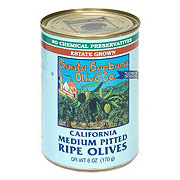 Santa Barbara California Medium Pitted Ripe Black Olives